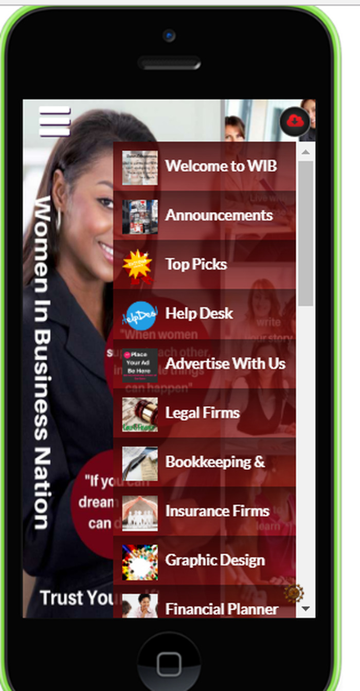women in business mobile app business directory - Woman In Business